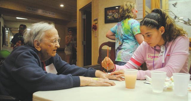Whitney Vickers | Greene County News Patriot Ridge hosted Camp Ageless Aug. 3, inviting local children and residents to bond over crafts, games, face painting and more.