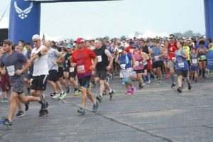 Athletes compete in Air Force Marathon