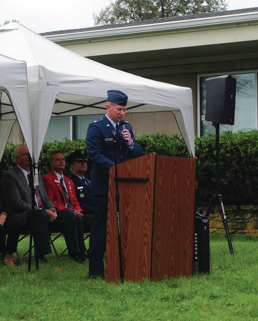 Whitney Vickers | Greene County News Fairborn hosted its annual 9/11 ceremony in which United States Air Force Col. David Shahady served as the guest speaker.
