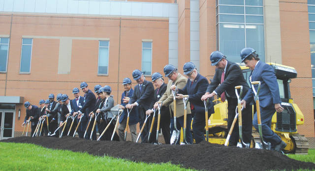 Whitney Vickers   Greene County News Soin Medical Center officials broke ground Sept. 10 on a 170,000 square-foot five-story tower.